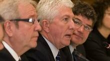 Louis Plamondon, currenntly the longest-serving MP, left, seen with Gilles Duceppe (Clement Allard/THE CANADIAN PRESS)