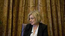 Alberta Premier Rachel Notley speaks about her Fort McMurray wildfire experience during an interview in Edmonton Alta, on Monday May 30, 2016. (JASON FRANSON/THE CANADIAN PRESS)