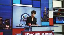 Rachel Maddow during a taping of her show in New York on March 9, 2017. (An Rong Xu/NYT)