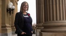 NDP MLA Stephanie McLean's pregnancy has highlighted shortcomings in the legislature's rules. (for The Globe and Mail)