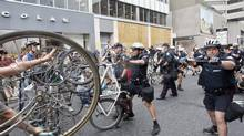 Demonstrators confront police officers during the G20 protest in Toronto June 27, 2010. (Ryan Enn Hughes For The Globe and Mail)