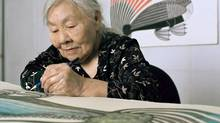 Inuit artist Kenojuak Ashevak is shown in an undated handout photo. The artist whose work became a worldwide icon of the Canadian Arctic has died. (Martin Lipman/Canada Council for the Arts)