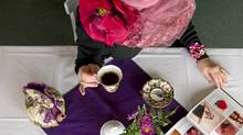 Norma Shephard is hosting a party at Taylor's Tea Room in Dundas, Ontario on the day of the royal wedding. (Peter Power/Peter Power/The Globe and Mail)