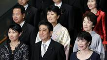 In shuffling his cabinet, Prime Minister Shinzo Abe appointed a record number of female ministers in a step toward his goal of having women in 30 per cent of management positions by 2020. (Kiyoshi Ota/Bloomberg)