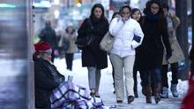 More than 500 people attended a meeting on temporary housing options, including 366 homeless people who were each paid $20. (Peter Power/The Globe and Mail)