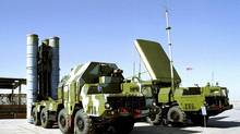 In this undated file photo, a Russian S-300 anti-aircraft missile system is on display in an undisclosed location in Russia. (Associated Press)