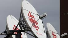 Satellite dishes sits on the roof of one of the CBC studios in Halifax on Wednesday April 4, 2012. (Andrew Vaughan/The Canadian Press)