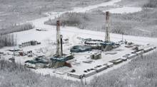EnCana natural gas drilling plant in the Horn River basin north of Fort Nelson, B.C. (David Ebner for The Globe and Mail/David Ebner for The Globe and Mail)