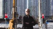 Michael Graydon of Paragon Gaming is pictured on the site where the company plans to build an urban resort featuring a casino next to B.C. Place in Vancouver. (Ben Nelms for The Globe and Mail)