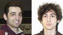 Tamerlan Tsarnaev, left, is pictured in 2010. His brother, Dzhokhar, is pictured in an undated FBI handout. (HANDOUT/REUTERS)