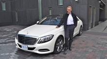 Thomas Weber and the S-Class sedan. (Michael Bettencourt for the Globe and Mail)
