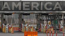The United States border crossing is shown Wednesday, December 7, 2011 in Lacolle, Que., south of Montreal. (Ryan Remiorz/Ryan Remiorz/THE CANADIAN PRESS)