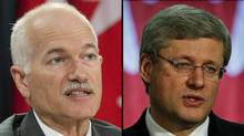 A combination photograph of NDP Leader Jack Layton and Prime Minister Stephen Harper. (The Canadian Press)
