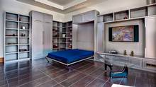 The Murphy bed has, once again, become an attractive design option for small-space dwellers and empty-nesters who want their guest room to do double duty. (PHOTO courtesy of Metroviews.ca)