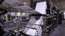 The stagnation of print media in many Western countries has eroded demand for web-offset printing - a continuous-roll method used for the rapid high-volume production - as publishers have tried to consolidate production. (Tibor Kolley/The Globe and Mail/Tibor Kolley/The Globe and Mail)