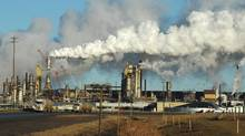 View of the Syncrude oil sands extraction facility near the town of Fort McMurray in Alberta Province, Canada on October 25, 2009. (MARK RALSTON/AFP/Getty Images)