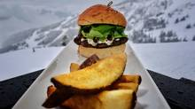 Christine's serves up an excellent burger of juicy, grain-fed lamb with sour raw-milk feta, cucumbers and lettuce (John Lehmann/The Globe and Mail)