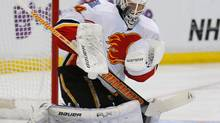 Calgary Flames goalie Miikka Kiprusoff Kiprusoff had a slow start to the season and then, this past weekend, two grim outings in the Flames' whirlwind trip through Southern California. (MIKE BLAKE/REUTERS)