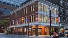 In another approach to bank design, ING Direct opened its Toronto Café last year in a heritage building on Yonge Street across from the Eaton Centre shopping mall.