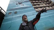 Chris Freeman is a resident of Vancouver's Old Continental Hotel. The old building will be torn down and the residents moved to another location near the Kingsway. (DEBORAH BAIC/THE GLOBE AND MAIL)