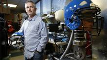 Instead of being embraced by sports helmet makers, a concussion sensor developed by Danny Crossman, co-founder and chief executive officer of Impakt Protective Inc., is being shunned. How can Impakt Protective overcome liability issues and make contact sports safer for kids? (Blair Gable For The Globe and Mail)