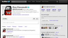 A screenshot of Guy Kawasaki's Twitter feed. (@guykawasaki)