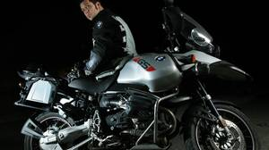 "In 2006, George Stroumboulopoulos took this 2003 BMW R1150 GS Adventure across the U.S. Ewan McGregor rode the same model around the world in 2004 and documented the trip for the film ""Long Way Round."""
