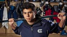 Monday, November 01, 2010, - Calgary, AB - Krishan Kaushal, 20 got hit from behind last February while playing for the Calgary Canucks, the Alberta Junior Hockey League for 17-20 year olds. (Chris Bolin Photography Inc. For The Globe and Mail)