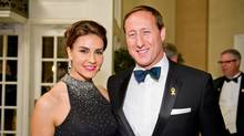 Minister of National Defence Peter MacKay and his wife, Nazanin Afshin-Jam MacKay, at the 2012 Garrison Ball. (JJ Thompson For The Globe and Mail)