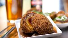 Scotch egg served at the The Fat Badger, a British gastro-pub in downtown Vancouver, B.C. on July 8, 2014. (Jimmy Jeong for The Globe and Mail)