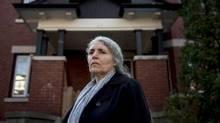 Rabbi Anna Maranta stands outside her home in Ottawa, where someone sprayed anti-Semitic graffiti, on Nov. 15, 2016. (Justin Tang/THE CANADIAN PRESS)