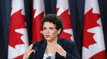 Federal environment commissioner Julie Gelfand says it's the first time, on any issue, that federal and provincial auditors have combined forces to compile a single, common national audit. (CHRIS WATTIE/REUTERS)