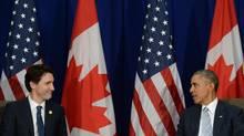 Prime Minister Justin Trudeau and U.S. President Barack Obama at the APEC Summit in Manila, Philippines on Nov.19, 2015. (Sean Kilpatrick/THE CANADIAN PRESS)