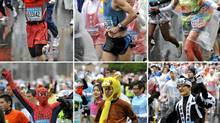 More than a few of the 30,000 athletes in this year?s Tokyo Marathon decided not to wear traditional running gear. (Yoshikazu Tsuno-AFP/Getty Images)