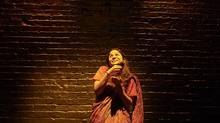 In her one-woman play Pyaasa, Anusree Roy – a performer with a powerful presence who is not afraid of using exaggeration for effect – plays multiple characters in modern-day India. (Michael Cooper)