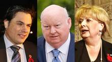 Patrick Brazeau, Mike Duffy and Pamela Wallin have all been suspended from the Senate over their questionable expenses. (CHRIS WATTIE/REUTERS)