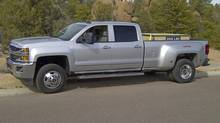 The Chevy Silverado Duramax bested the competition in a trailer-hauling challenge. (Ted Laturnus for The Globe and Mail)