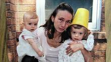 Elaine Campione is seen with her two daughters, left to right, Sophia, 19 months, and Serena, 3, in this undated photo handed out by the court in Barrie, Ont., on Thursday, November 4, 2010. An Ontario woman who drowned her two young daughters believed she was being followed by people trying to kill her and the girls in the months leading up to the killings, a jury heard Thursday. (Handout/The Canadian Press/Handout/The Canadian Press)
