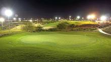 The Cloud Nine short course in Vegas lets golfers play past dark.