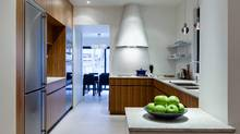 The kitchen in the Leslieville, Toronto home of Philippe Beauparlant. The kitchen was the winner of the Design with Liebherr contest sponsored by the German refrigeration and industrial products conglomerate. (Photos by John Heineman Photography)