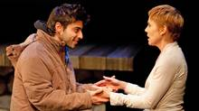 Jade Hassoune and Jillian Fargey in In Absentia, Centaur Theatre Montreal. (©lucetg.com)