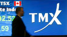 File photo of an employee seen at the Toronto Stock Exchange. (Kevin Van Paassen/Kevin Van Paassen/The Globe and Mail)
