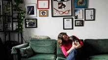 Roxanne Pettipas is founder and chief executive officer of a company called Class Art Productions Inc. and inventor of the Buddy Belt, a canine collar that takes the pressure off a dog's neck and distributes it across the shoulders instead. She is shown here with her 17-year-old dachshund, Buddy. (Galit Rodan For the Globe and Mail)
