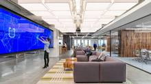 O+A, a design consulting firm, created a two-floor office space in San Francisco for Uber that aims to balance space for individual tasks with room for collaboration. (Jasper Sanidad)
