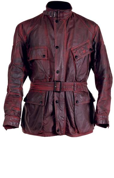 THEN: While professional motorcyclists (including the legendary Irish rider Sammy Miller, who dominated in trials riding in the 1950s and 60s) have sported the Belstaff Motorcycle Trialmaster Jacket for decades, this ruggedly handsome waxed-cotton coat with four patch pockets and a belted waist is perhaps more famous for being worn by a pre-revolutionary Che Guevara during his transformative trek across Latin America in the early fifties.