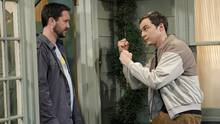 Jim Parsons, right, will make an estimated $90-million by The Big Bang Theory concludes an 11th season. (Sonja Flemming/CBS)