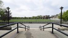 On top of zoning controversies, the planned sports field at Central Technical School is raising another debate: whether rubber turf is safe. Ontario Municipal Board hears from community members who oppose project, saying material is not safe. (Fred Lum/The Globe and Mail)