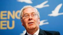 Governor of the Bank of England, Mervyn King, is due to step down from the post next year. (IAN HODGSON/AP)