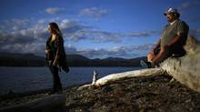 Kayla Wiens, out for a walk with her dad Dwight at Whiffen Spit in Sooke, B.C., Thursday, September 8, 2016. Kayla is one of eight recipients of a new post-secondary scholarship for children living with a military parent who has PTSD. (CHAD HIPOLITO/THE GLOBE AND MAIL)