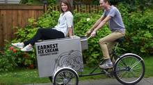 Ben Ernst and Erica Bernardi are the owners of Earnest Ice Cream. (Jeff Vinnick for The Globe and Mail)